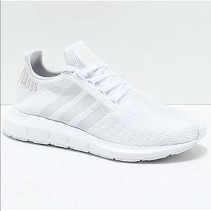 Adidas Swift all white rose gold